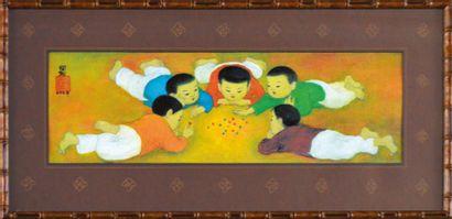 Mai Thu (1906-1980).  Joueurs de billes....