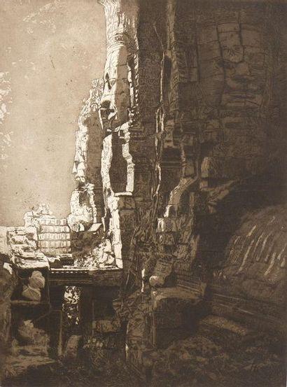 HENRI DUFOUR (1870- ?)  LE BAYON A ANGKOR...