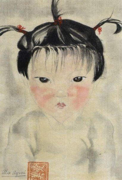 ALIX AYMÉ (1894-1989).  PORTRAIT D'ENFANT....