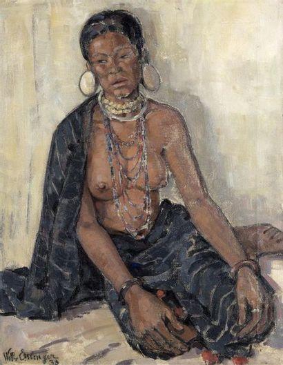WILLY ESSLINGER (XXe)  PORTRAIT DE FEMME...