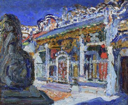 AUGUSTIN CARRERA (1878-1952).  LE TEMPLE...
