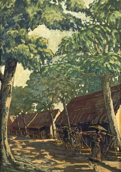 RENE BASSOULS (1877-XXe)  Ecole française...