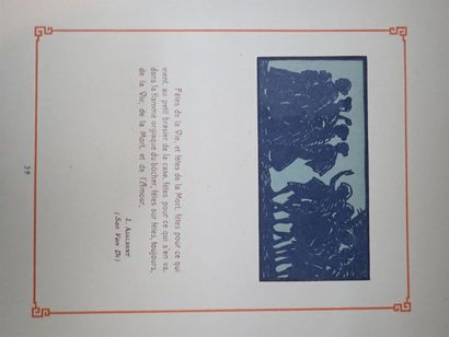 EMMANUEL DEFERT  CHERSONESE D'OR - INDOCHINE  Porte-Folio. Hanoi 1925. Numéro 29...