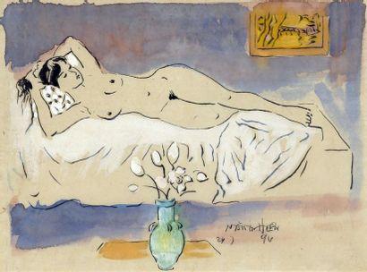 LE NANG HIEN (1921-2014)  LE NU AUX FLEURS...