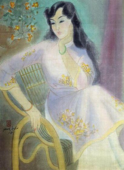 LÊ NANG HIEN (1921-2014).  LA BELLE REVEUSE....