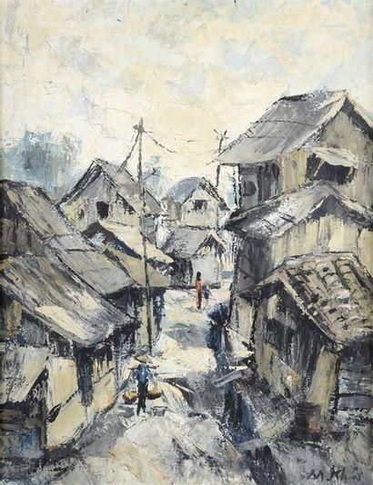 M. KAI (XXe).  Peintre de la région de Saïgon....