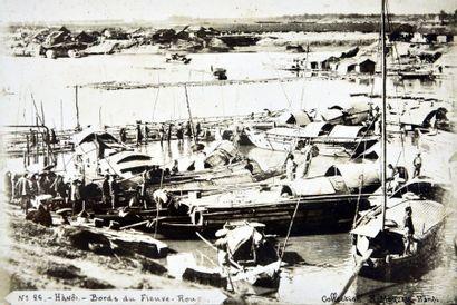 1890.  RAPHAËL MOREAU (XIX-XXe)  16 VUES DE HANOI vers 1890/1895 et 16 VUE DE LA...