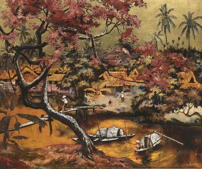 ATELIER DE THANH LÊ (1919-2003)  Maîtres-laqueurs...