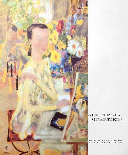 AUX TROIS QUARTIERS  Illustration originale...