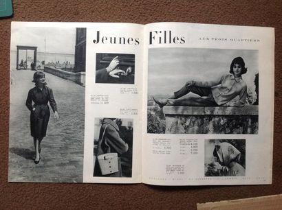 AUX TROIS QUARTIERS  Illustration originale de couverture réalisée par  Le Phô (1907-2001)....