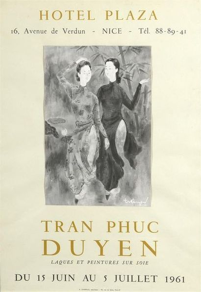 AFFICHE TRAN PHUC DUYEN (1923-1993)  Affiche...