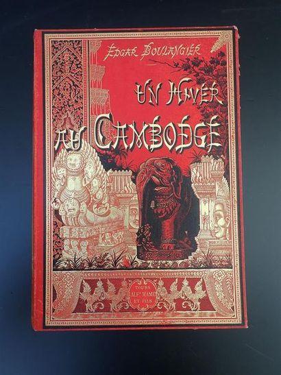 1888.  BOULANGIER (EDGAR).  UN HIVER AU CAMBODGE....