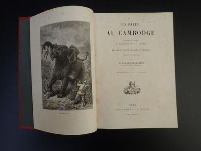 1888.  BOULANGIER (EDGAR).  UN HIVER AU CAMBODGE.  Chasses au tigre, à l'éléphant...