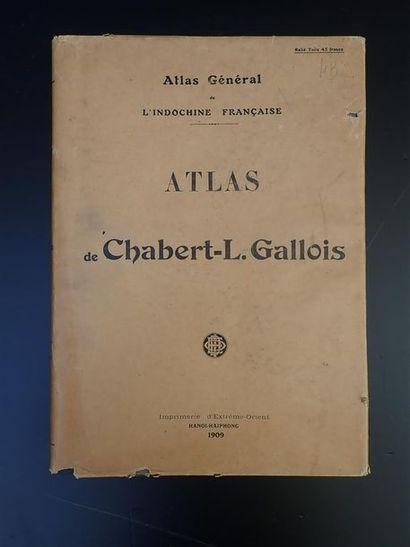 1909.  ATLAS GENERAL DE L'INDOCHINE FRANÇAISE:...