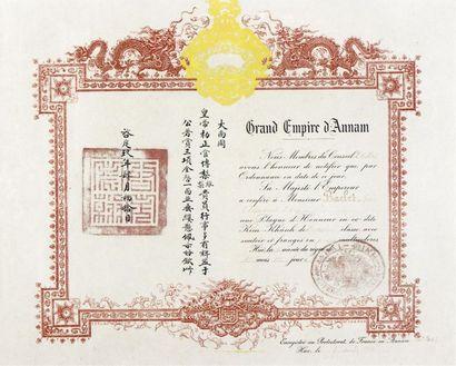 1924  Règne de S.M. l'Empereur Khai Dinh...