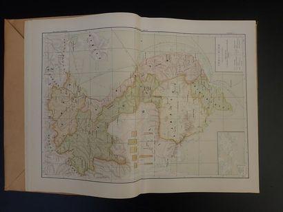 1909.  ATLAS GENERAL DE L'INDOCHINE FRANÇAISE: ATLAS DE CHABERT-L. GALLOIS, CONTENANT...