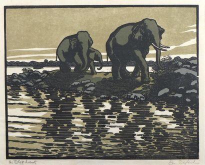 EMMANUE DEFERT (1898-19 ??)  LES ELEPHANTS....