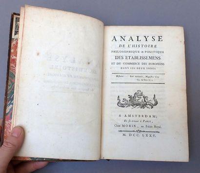 1775. François Bernard Morin. Analyse de...
