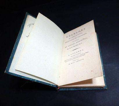 1787. Chevalier de P. (Évariste Parny). Chansons...