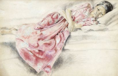 Alix AYME (1894-1989). Portrait de jeune...