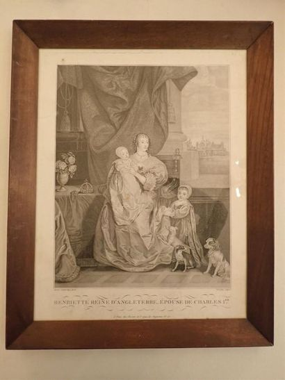 Deux gravures encadrées d'après Van Dyck....