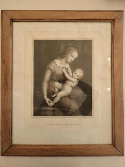 La vierge de la Maison d'Orléans, gravure...