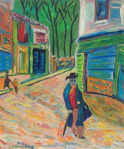 BREYSSE. Portrait de Paul Léautaud. Huile...