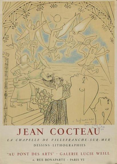 Jean COCTEAU. Affiche de Mourlot pour une...