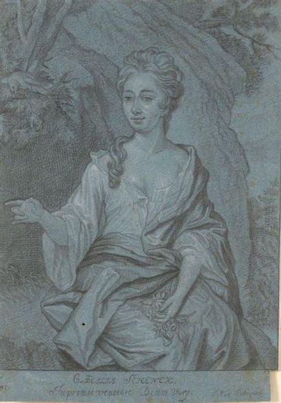 SCHENCK. Portrait de femme. Procédé sur papier...