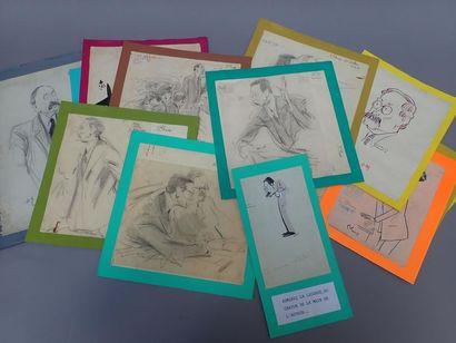 Ensemble de caricatures. Léon Blum..