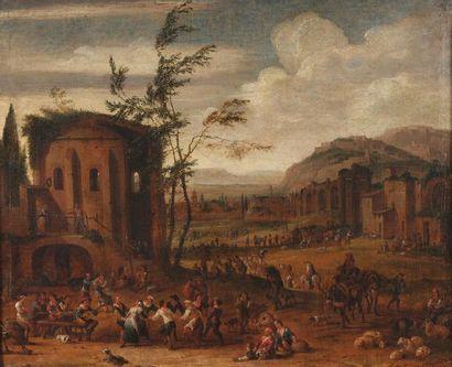 Peter van Bredael (1629-1707)  Place de village...