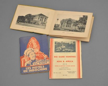 1920  Un ensemble de 3 plaquettes publicitaires...