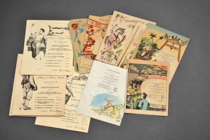 1902  Ensemble de programmes de concerts...