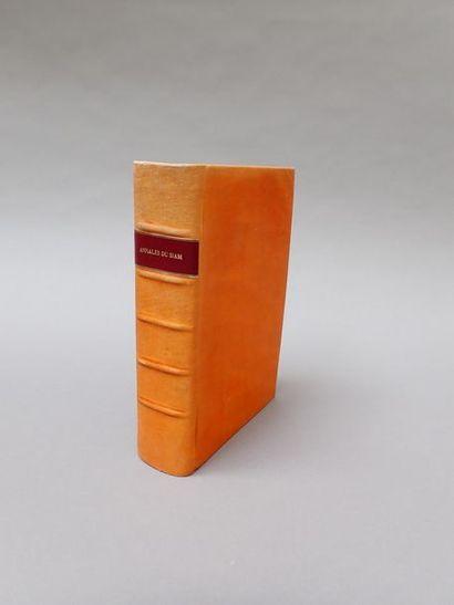 1926. NOTTON (Camille), Annales du Siam,...