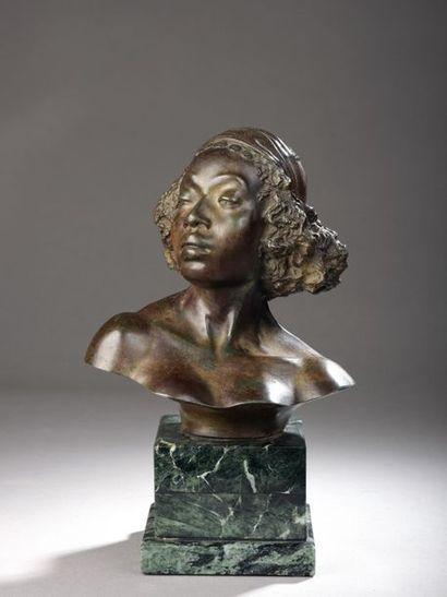Malvina HOFFMAN (1887-1966). Buste d'Erithréenne...