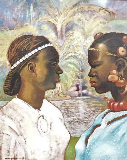 Georges MANZANA-PISSARRO (1871-1961). Portraits...