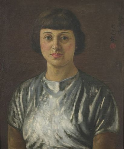 Xin Xue LIAO (1906-1958). Portrait de femme...