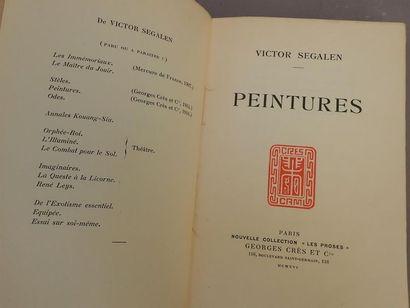 SEGALEN (Victor), Peintures,  P., Crès 1916,...