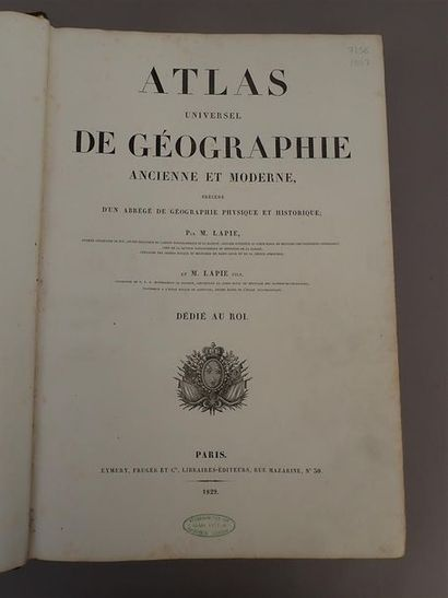 1829. LAPIE (Alexandre et Pierre), Atlas...