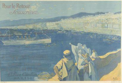 1920. Affiche encadrée