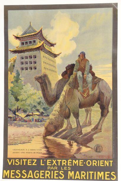 1920 J. Ruedolf (1885-1950) Visitez l'Extrême-Orient...