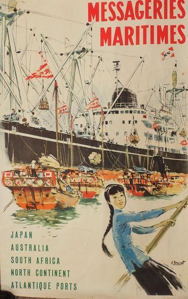 1920.A. BRENET. Messageries maritimes. Japan,...