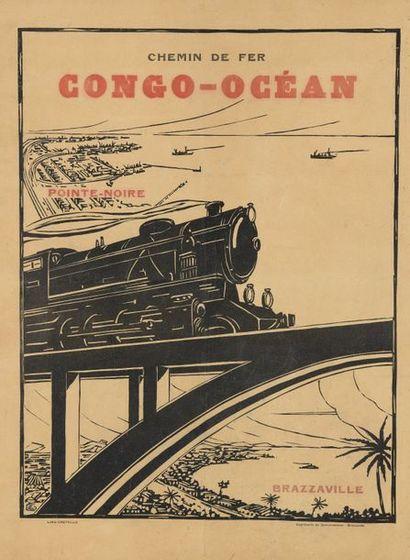 1930. Chemin de fer Congo-Océan. Pointe Noire-Brazzaville....