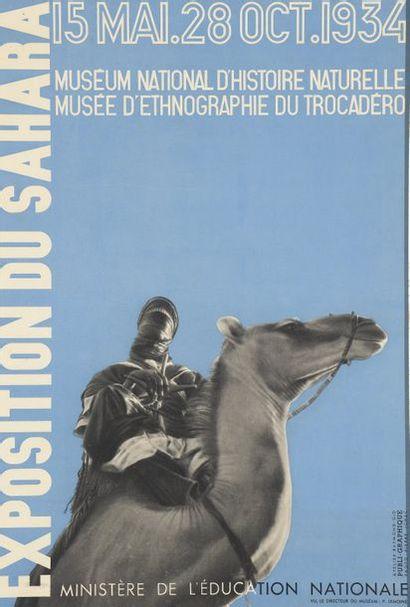 1934. Affiche Exposition du Sahara, Museum...