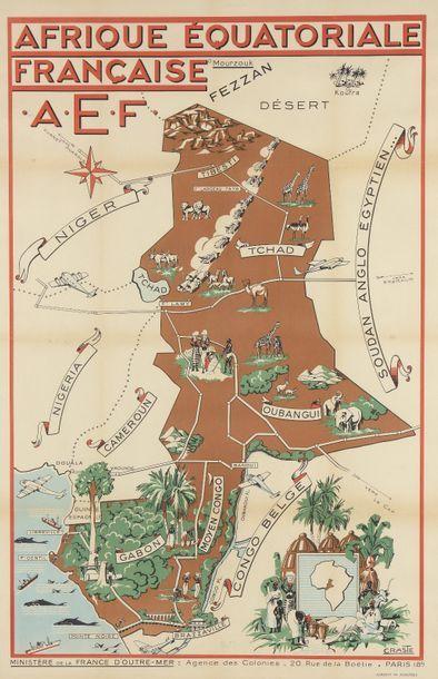 1950. Léo CRASTE (1887-1970). AFRIQUE EQUATORIALE...