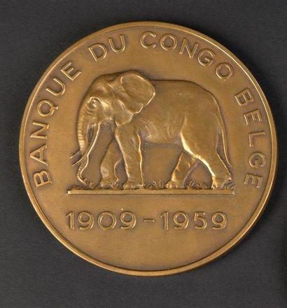 Banque du Congo belge (1909-1959). Médaille...