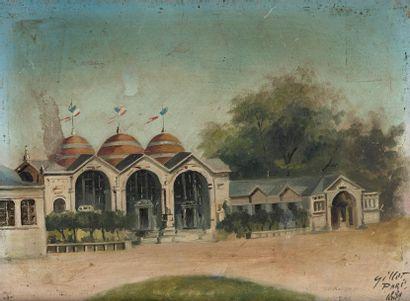 1889. GILLOT. Pavillons de l'Exposition universelle....