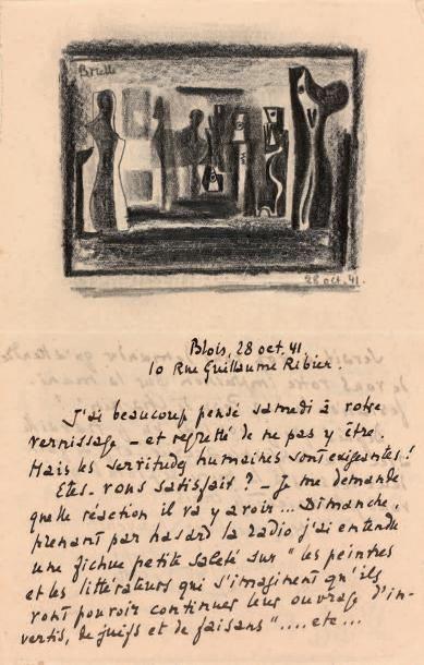 BRIELLE Roger, peintre surréaliste. 1899-1960