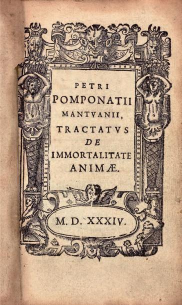 POMPONATIUS Petrus (Pietro Pomponazzi, de Mantoue)