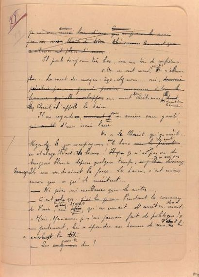 MALRAUX André Les Conquérants. Manuscrit autographe complet. 1927-1928; in-4 de 379...